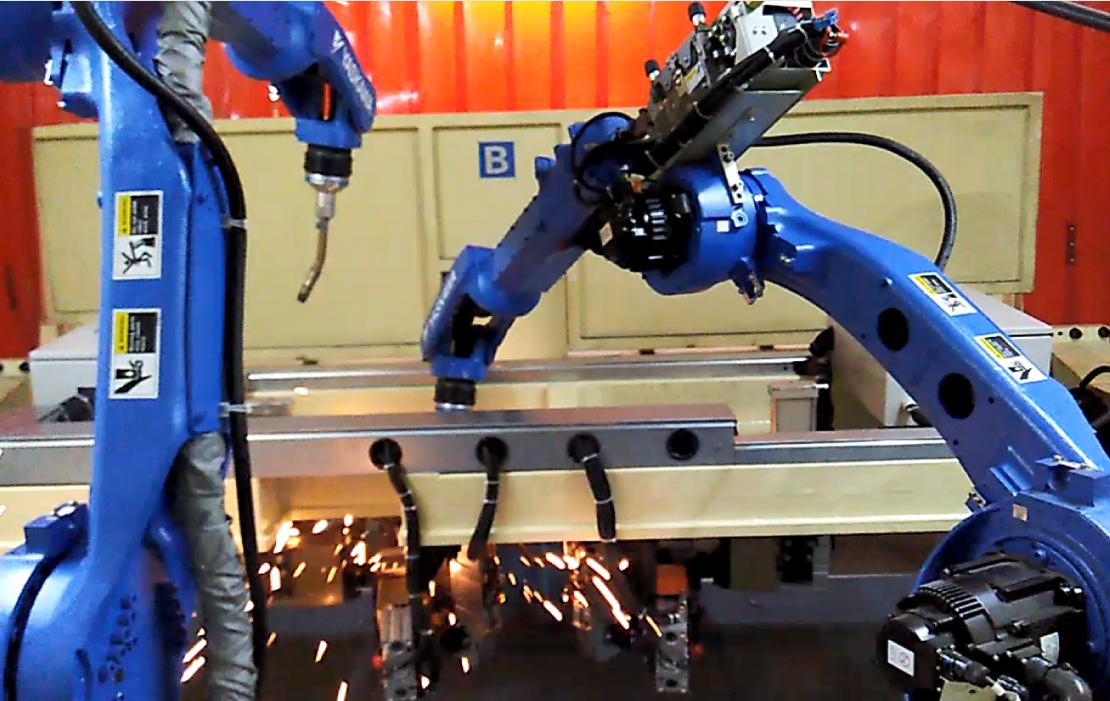 CHANGAN AUTO ARC WELDING YASKAWA ROBOTS