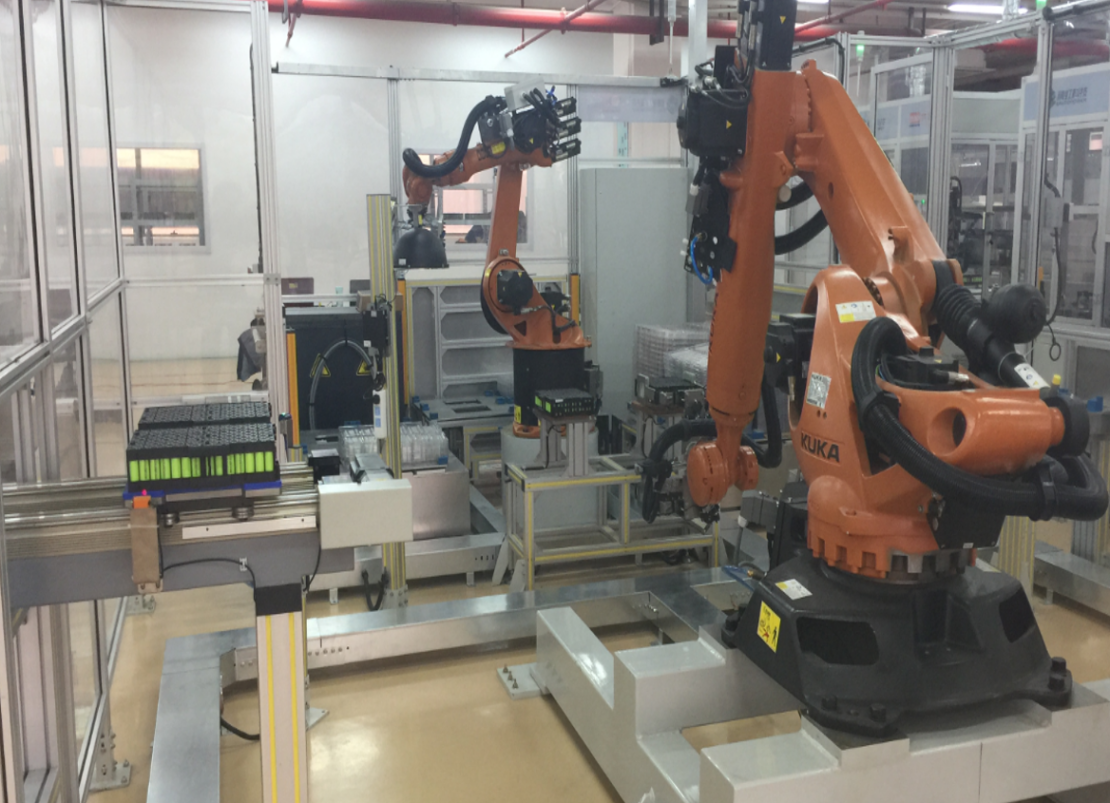 BATTERY ASSEMBLY LINE KUKA YASKAWA
