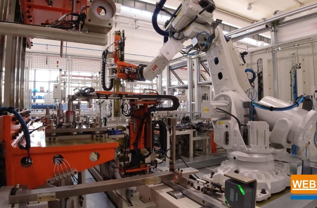 ABB MOTOR ASSEMBLY TEST ROBOT